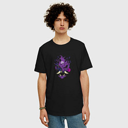 Футболка оверсайз мужская Samurai - purple цвета черный — фото 2