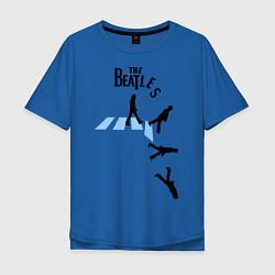Футболка оверсайз мужская The Beatles: break down цвета синий — фото 1