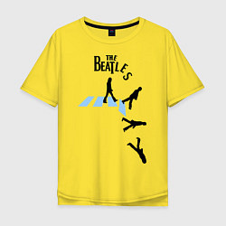 Футболка оверсайз мужская The Beatles: break down цвета желтый — фото 1