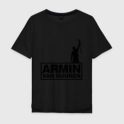 Мужская удлиненная футболка с принтом Armin van buuren, цвет: черный, артикул: 10036476605753 — фото 1