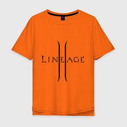 Футболка оверсайз мужская Lineage logo цвета оранжевый — фото 1