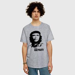 Футболка оверсайз мужская Эрнесто Че Гевара цвета меланж — фото 2