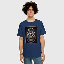 Мужская удлиненная футболка с принтом AC/DC: Let there be rock, цвет: тёмно-синий, артикул: 10058697205753 — фото 2