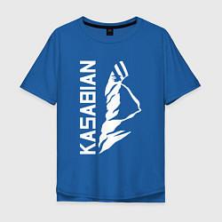 Футболка оверсайз мужская Kasabian цвета синий — фото 1