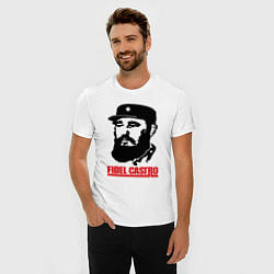 Футболка slim-fit Fidel Castro цвета белый — фото 2