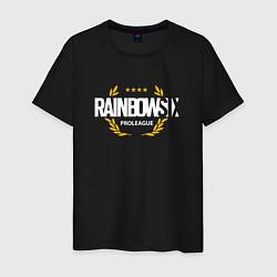 Футболка хлопковая мужская Rainbow six | Siege : Pro league (white) цвета черный — фото 1