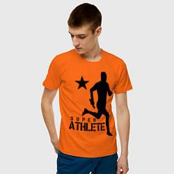 Футболка хлопковая мужская Лёгкая атлетика цвета оранжевый — фото 2
