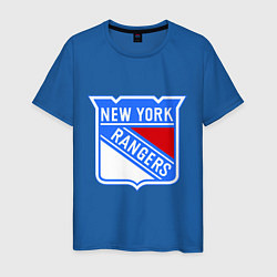 Футболка хлопковая мужская New York Rangers цвета синий — фото 1