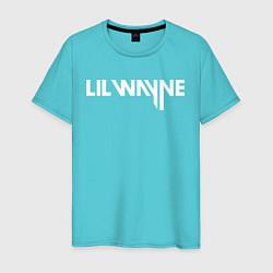 Футболка хлопковая мужская Lil Wayne цвета бирюзовый — фото 1