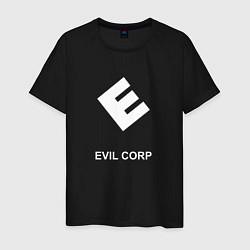 Футболка хлопковая мужская Evil corporation цвета черный — фото 1