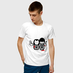 Футболка хлопковая мужская Криминальное Чтиво цвета белый — фото 2