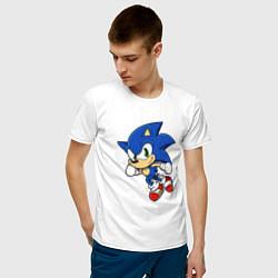 Футболка хлопковая мужская Sonic цвета белый — фото 2