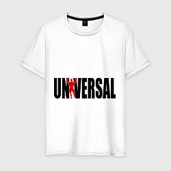 Футболка хлопковая мужская Universal bodybilding цвета белый — фото 1