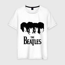 Футболка хлопковая мужская The Beatles: Faces цвета белый — фото 1