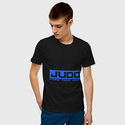 Футболка хлопковая мужская Judo: More than sport цвета черный — фото 2