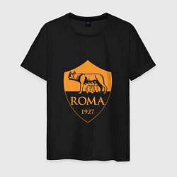 Футболка хлопковая мужская AS Roma: Autumn Top цвета черный — фото 1