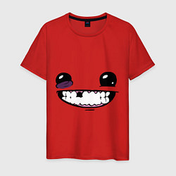 Футболка хлопковая мужская Super Meat Boy: Face цвета красный — фото 1
