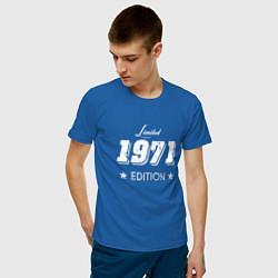 Футболка хлопковая мужская Limited Edition 1971 цвета синий — фото 2