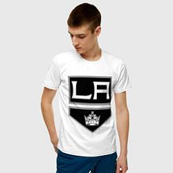 Футболка хлопковая мужская Los Angeles Kings цвета белый — фото 2