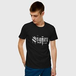 Футболка хлопковая мужская Stigmata цвета черный — фото 2
