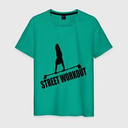 Футболка хлопковая мужская Street WorkOut цвета зеленый — фото 1