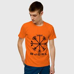Футболка хлопковая мужская Bjork Rune цвета оранжевый — фото 2