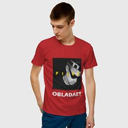Мужская хлопковая футболка с принтом Obladaet Files, цвет: красный, артикул: 10144527100001 — фото 2