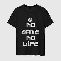 Футболка хлопковая мужская No game No life цвета черный — фото 1