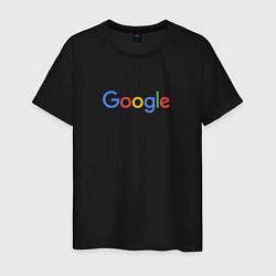 Футболка хлопковая мужская Google цвета черный — фото 1
