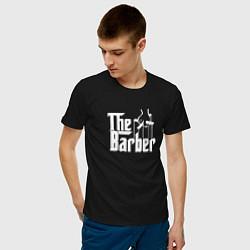 Футболка хлопковая мужская The Barber Godfather цвета черный — фото 2