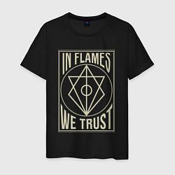 Футболка хлопковая мужская In Flames: We Trust цвета черный — фото 1