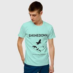 Футболка хлопковая мужская Shinedown: Sound of Madness цвета мятный — фото 2