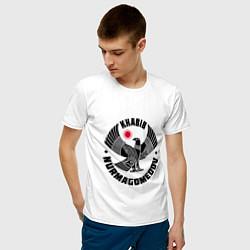 Футболка хлопковая мужская Khabib: Dagestan Eagle цвета белый — фото 2