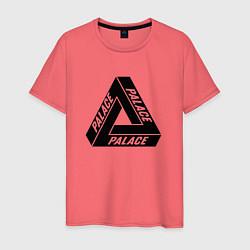 Футболка хлопковая мужская Palace Triangle цвета коралловый — фото 1