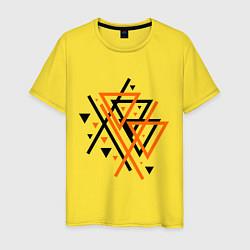 Футболка хлопковая мужская Paul van Dyk: Chaos цвета желтый — фото 1