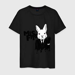 Футболка хлопковая мужская Misfits Rabbit цвета черный — фото 1