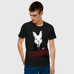 Футболка хлопковая мужская Misfits: White rabbit цвета черный — фото 2