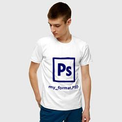 Футболка хлопковая мужская Photoshop цвета белый — фото 2