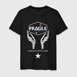 Футболка хлопковая мужская Fragile Express цвета черный — фото 1