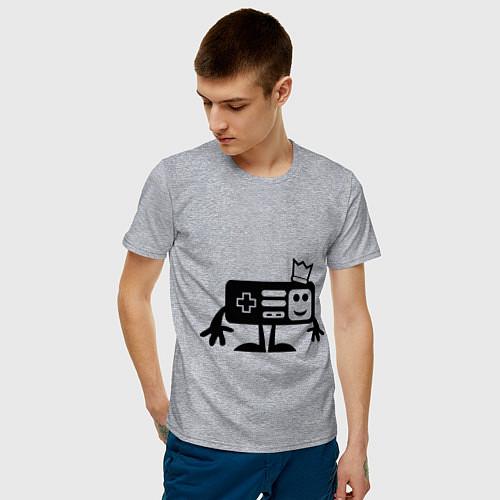 Мужская футболка Игроман / Меланж – фото 3