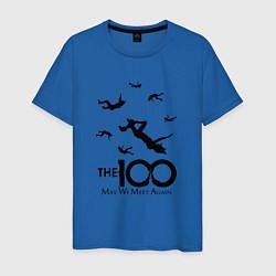 Футболка хлопковая мужская The 100 цвета синий — фото 1