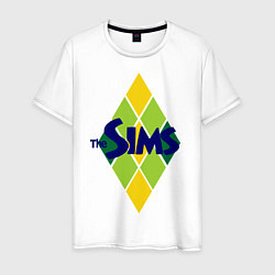 Футболка хлопковая мужская The Sims цвета белый — фото 1