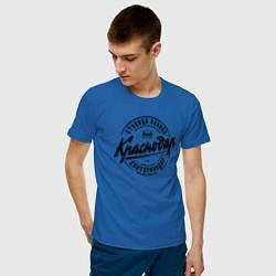 Футболка хлопковая мужская Краснодар: столица Кубани цвета синий — фото 2