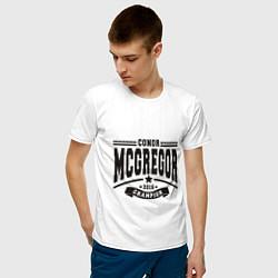 Мужская хлопковая футболка с принтом Conor McGregor: Champion 2016, цвет: белый, артикул: 10161426900001 — фото 2