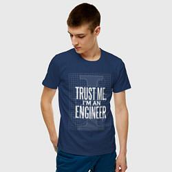 Футболка хлопковая мужская I'm an Engineer цвета тёмно-синий — фото 2