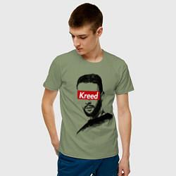 Футболка хлопковая мужская Kreed Supreme цвета авокадо — фото 2
