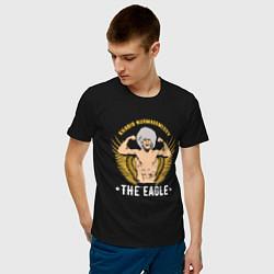 Футболка хлопковая мужская Khabib: The Eagle цвета черный — фото 2