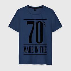 Футболка хлопковая мужская Made in the 70s цвета тёмно-синий — фото 1