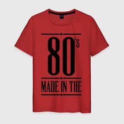 Футболка хлопковая мужская Made in the 80s цвета красный — фото 1