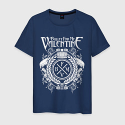 Футболка хлопковая мужская Bullet For My Valentine цвета тёмно-синий — фото 1